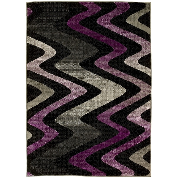 Shop Lyke Home Purple Olefin Machine Made Area Rug 8 X