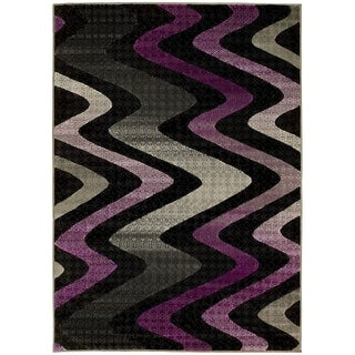 LYKE Home Purple Olefin Machine-made Area Rug (8' x 10')