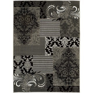 Lyke Home Shadow Grey/Charcoal Olefin Machine-made Area Rug (8' x 10')