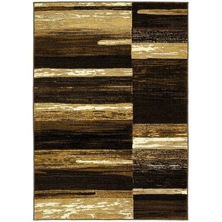 LYKE Home Chocolate Olefin Machine Made Area Rug (8x10)