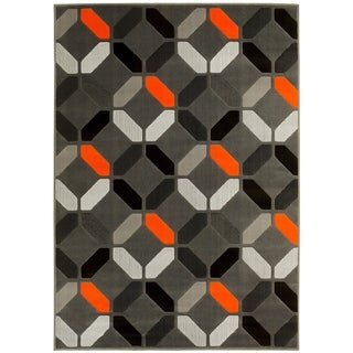 LYKE Home Orange Olefin Machine-made Area Rug (8' x 10')