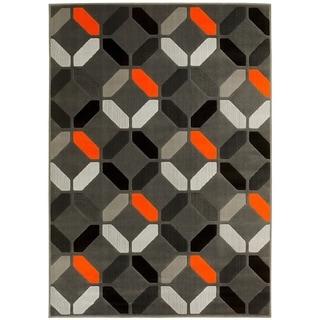LYKE Home Orange Home Machine-made Area Rug (8' x 10')