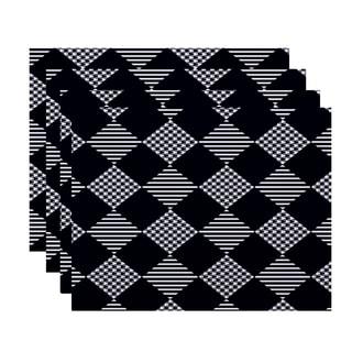 18 x 14-inch Check It Twice Geometric Print Placemat (Set of 4)