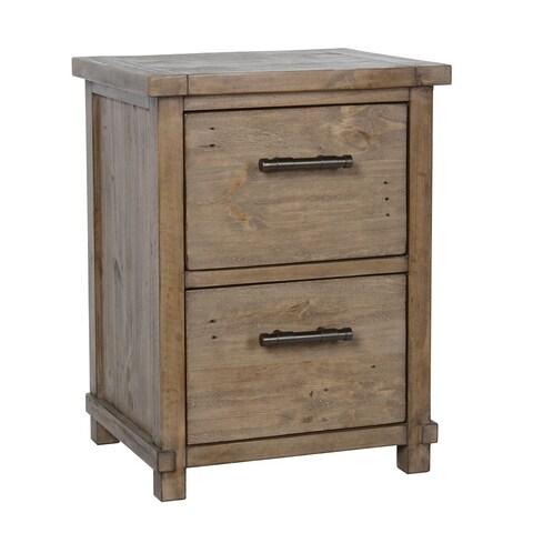 Kosas Home Kasey Desert Pine Handcrafted 2-drawer Filing Cabinet