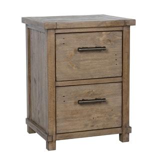 Kosas Home Kasey Desert Pine Handcrafted 2 Drawer Filing Cabinet