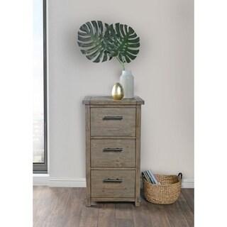 Kosas Home Kasey Desert Reclaimed Pine Handcrafted 3 Drawer Filing Cabinet