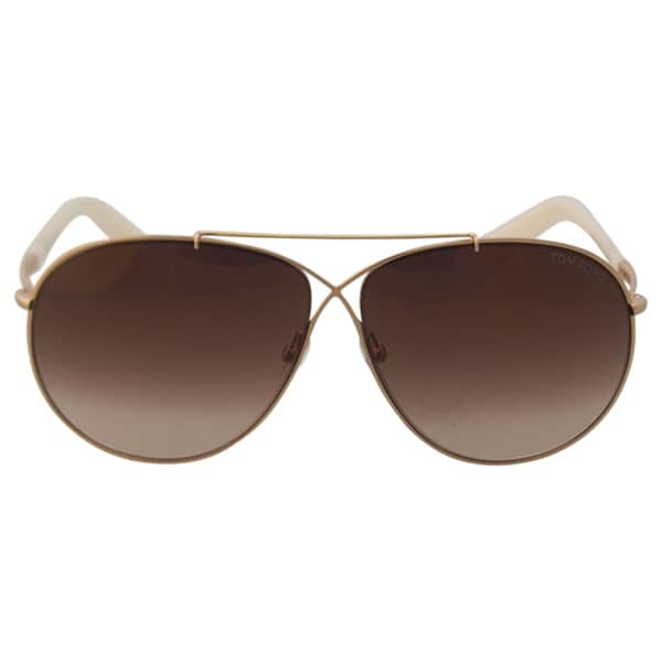 d0addc36d85b9 Tom Ford TF374 Eva 28G Womens Rose Gold Ivory 61 mm Sunglasses - rose gold