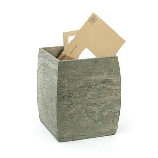 Hip Vintage Slate Stone Waste Basket