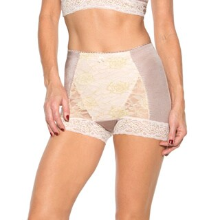 Rhonda Shear Women's Pin-up Style Metallic Lace Control Panty
