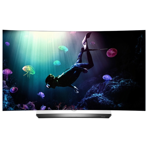 shop lg oled55c6p 55 inch class curved 4k oled uhd 3d television free shipping today. Black Bedroom Furniture Sets. Home Design Ideas