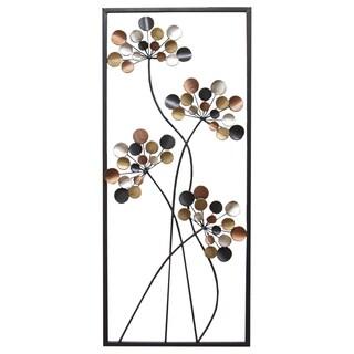 Stratton Home Decor Metal Floral Panel Wall Decor