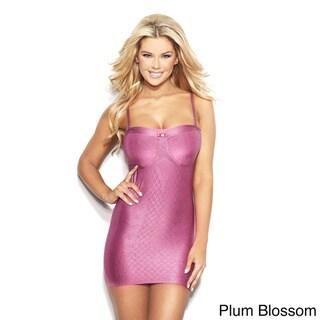 Rhonda Shear Women's Grey, Pink, Purple Nylon, Spandex Targeted Control Camisole