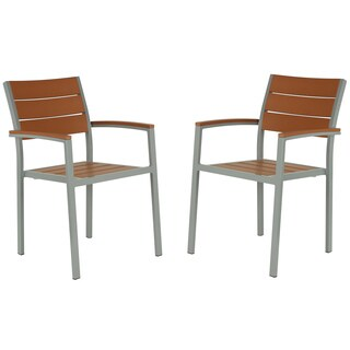Cortesi Home Avery Aluminum Recycled Plastic Outdoor Arm Chair (Set of 2)