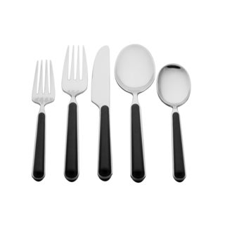 Vanilla Elite Black 60-piece Place Setting