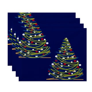 18 x 14-inch O Tannenbaum Geometric Print Placemat (Set of 4)