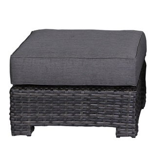 Bora Bora Wicker Rattan Olefin Cushion Ottoman