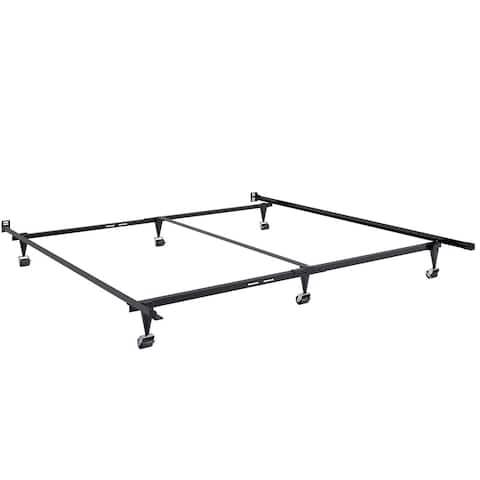 CorLiving Black Metal Adjustable Queen/King Bed Frame