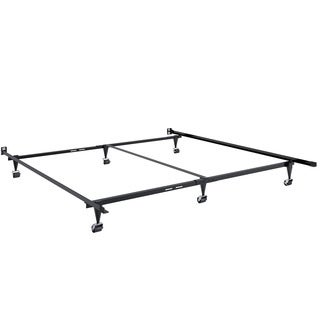 CorLiving Black Metal Adjustable Queen/King Bed Frame