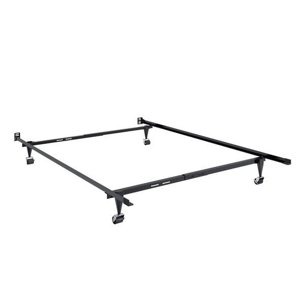 CorLiving Black Metal Twin/Full Adjustable Bed Frame
