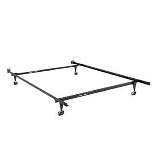 CorLiving Black Metal Twin/ Full Adjustable Bed Frame