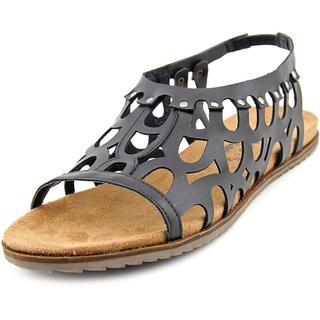 Coconuts By Matisse Women's 'Swan' Black Faux Leather Sandals