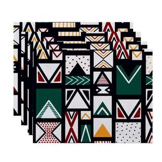 18 x 14-inch Merry Susan Geometric Print Placemat (Set of 4)
