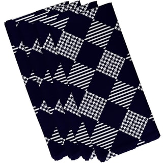 19 X 19 inch Check It Twice Geometric Print Napkin (Set of 4)