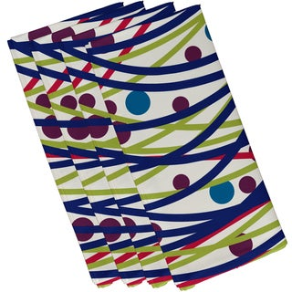 19 X 19 inch Doodle Decorations Geometric Print Napkin (Set of 4)