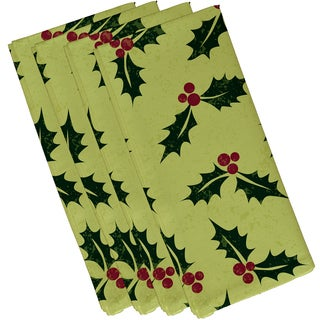 19 X 19 inch Allover Holly Floral Print Napkin (Set of 4)
