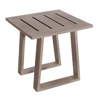 Aruba Grey Aluminum Outdoor End Table