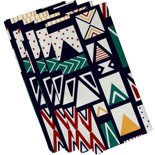 19 X 19 inch Merry Susan Geometric Print Napkin (Set of 4)