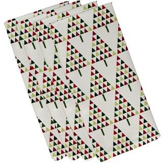 19 X 19 inch Triangle Trees 2 Geometric Print Napkin (Set of 4)