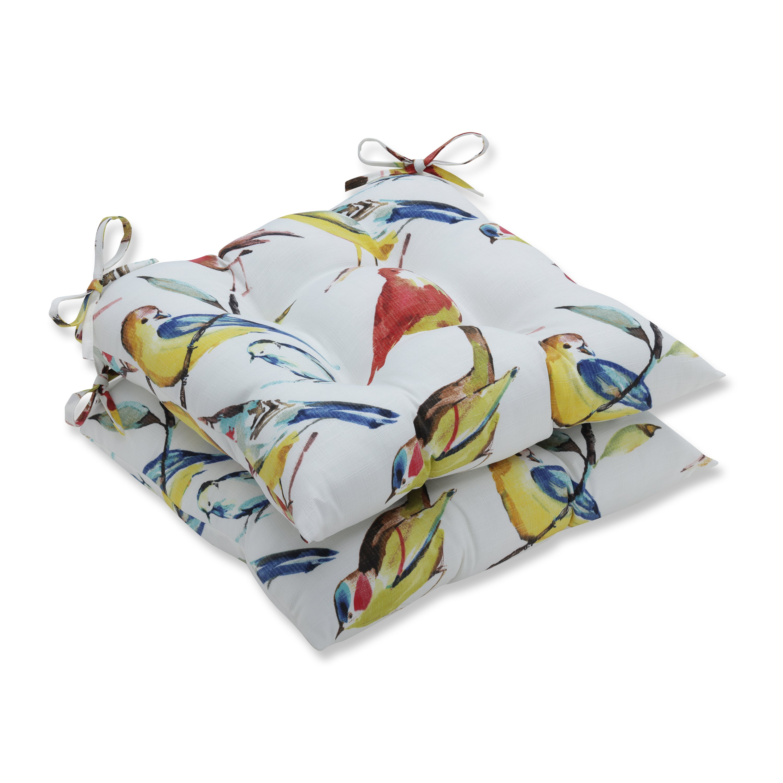 Pillow Perfect Outdoor Indoor Bird Watchers Summer Wrought Iron Seat Cushion Set Of 2 Overstock 11949412