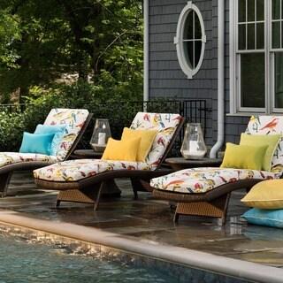 Pillow Perfect Outdoor/ Indoor Bird Watchers Summer Chaise Lounge Cushion