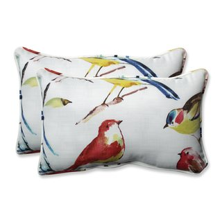 Pillow Perfect Outdoor/ Indoor Bird Watchers Summer Rectangular Throw Pillow (Set of 2)