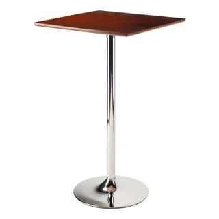 Winsome Kallie Cappuccino/Chrome Bar-height Pub Table