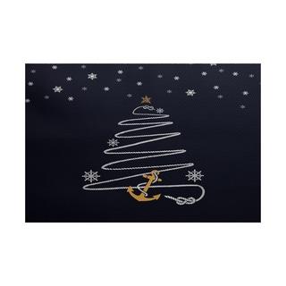 Holiday Anchor Geometric Print Indoor/ Outdoor Rug (2' x 3')