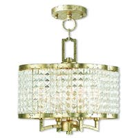 Livex Lighting Grammercy Winter Gold Mini Crystal 4-light Semi Flush Chandelier