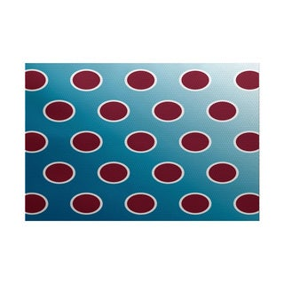 Holiday Bubbly Geometric Print Indoor/ Outdoor Rug (2' x 3')