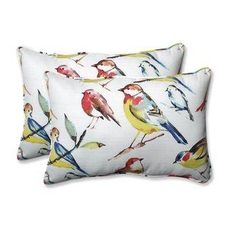 Pillow Perfect Outdoor/ Indoor Bird Watchers Summer Over-sized Rectangular Throw Pillow (Set of 2)