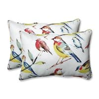 Pillow Perfect Outdoor/ Indoor Bird Watchers Summer Over-sized Rectangular Throw Pillow (Set of 2)