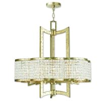 Livex Lighting Grammercy Winter Gold Crystal Hand-applied Chandelier