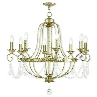 Livex Lighting Sophia Hand-applied Winter Gold Crystal 8-light Chandelier