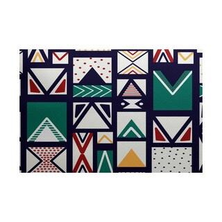 Merry Susan Geometric Print Indoor/ Outdoor Rug (2' x 3')