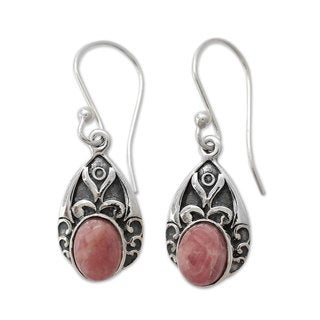 Handcrafted Sterling Silver 'Agra Princess' Agate Earrings (India)