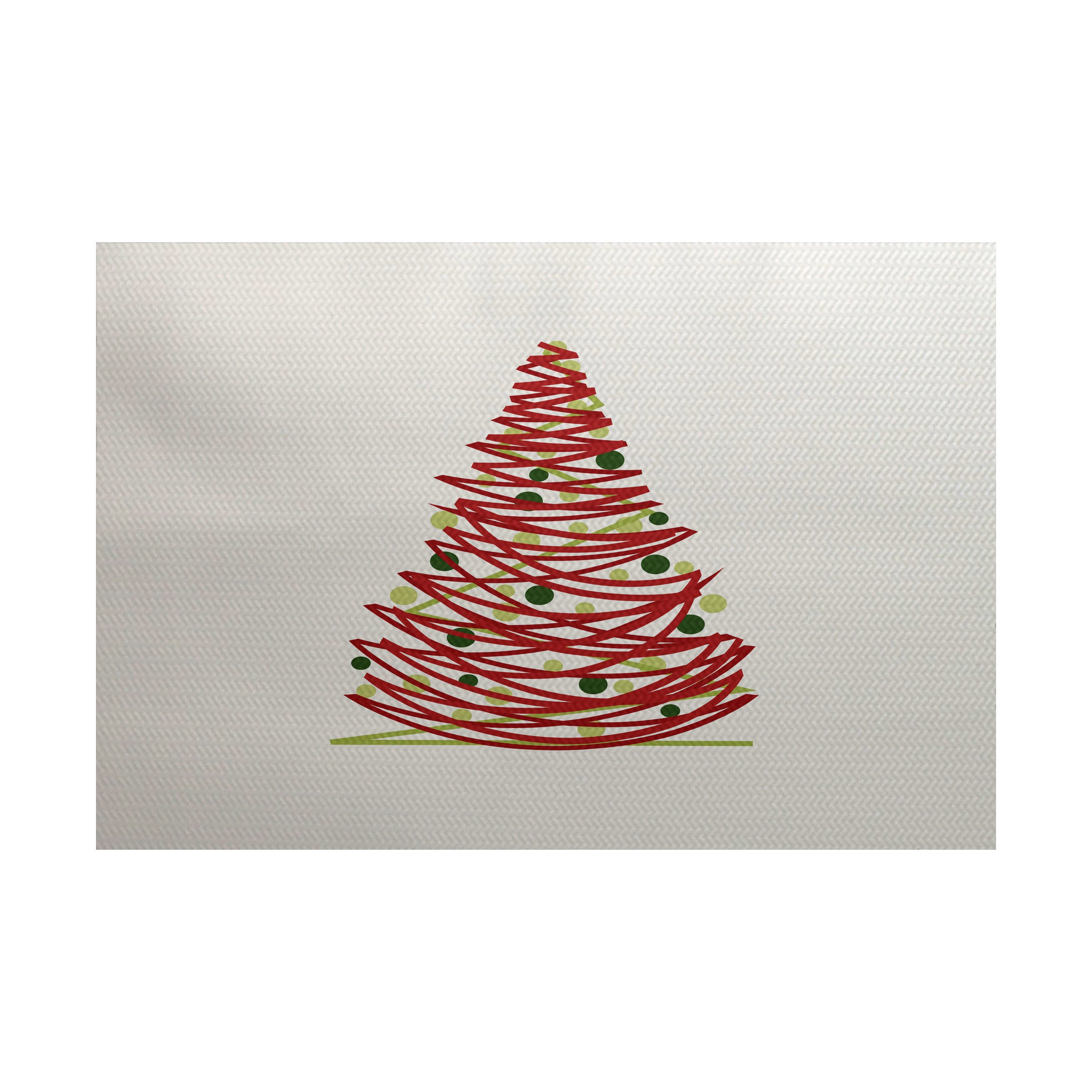 Oh Christmas Tree Geometric Print Indoor Outdoor Rug 2 X 3