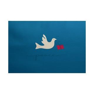 Peace Dove Animal Print Indoor/ Outdoor Rug (2' x 3')