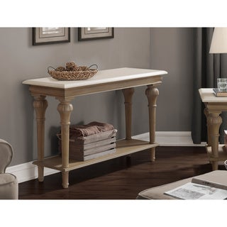 Elements Brown and Cream Sofa Table