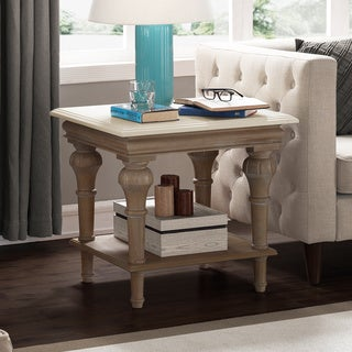 Elements Brown and Cream End Table