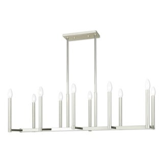 Livex Lighting Alpine Polished Nickel 10-light Linear Chandelier